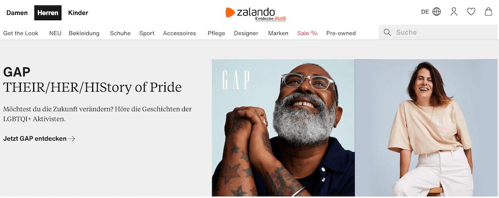 LGBTQ Kampagne Pride Zalando Gap Pinkwashing SISI Agentur